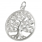 pendant, tree of live, silver 925