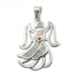 pendant angel with zirconia silver 925
