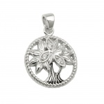 pendant tree of live silver 925