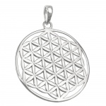 pendant, flower of life, silver 925