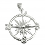 pendant wind rose silver 925