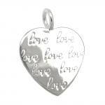 pendant heart imprinting love silver 925