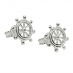 stud earring steering wheel silver 925