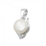 pendant, fresh water pearl, silver 925