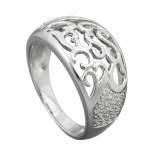 RING, WITH ZIRCONIAS, SILVER 925