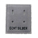 velvet card display 'ECHT SILBER'