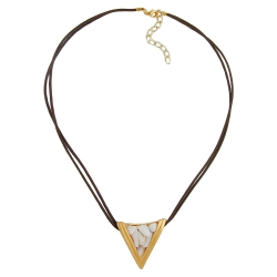 NECKLACE, TRIANGLE, MOTHER-OF-PEARL, 45CM