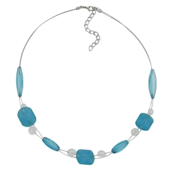 Necklace turquoise beads 45cm