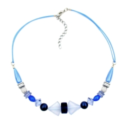 Necklace, Blue Tones, Various Beads