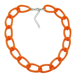 Necklace, wide curb chain, apricot-matt