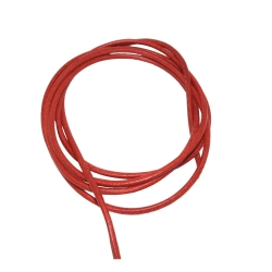 Leather Cord red , 2mm, 100cm