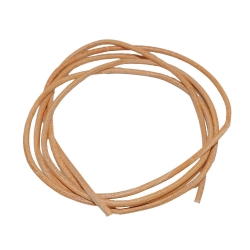 Leather Cord Natur brown , 2mm, 100cm