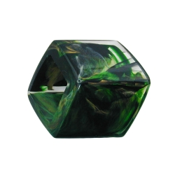 Scarf bead slanted green marbled