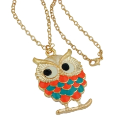 Necklace, Owl, Multi-Coloured