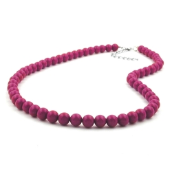 CHAIN, WITH PURPLE BEADS 8MM, 42CM