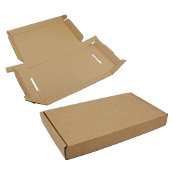 Foldable Box, Small, Brown, Pre-Punched