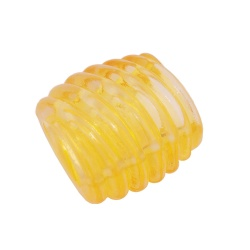 Scarf bead spiral marking yellow transparent 35mm