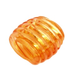 Scarf bead spiral marking orange transparent 35mm