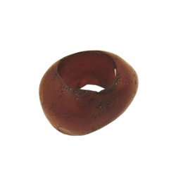 Scarf bead dark brown 33mm