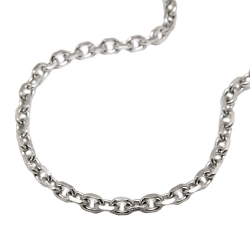 necklace, anchor chain, stainless steel