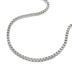 necklace, box chain, stainless steel