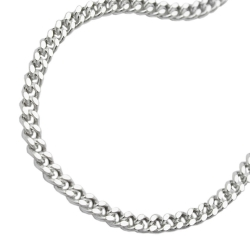 NECKLACE, FLAT CURB CHAIN, SILVER 925, 55CM