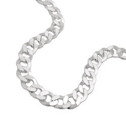 necklace, open curb chain, silver 925