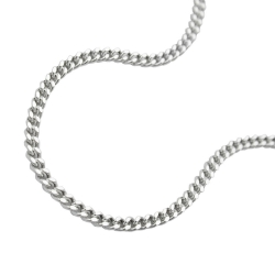 Anklet, Curb Chain, Silver 925, 27CM
