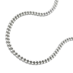 NECKLACE, THIN CURB CHAIN, SILVER 925, 55CM