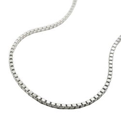 Box Chain, Diamond Cut, 1.3mm, Silver 925, 38CM