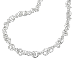 BRACELET, FANCY CHAIN, SILVER 925, 21CM