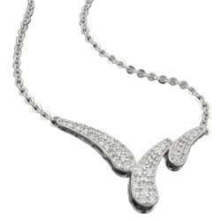Necklace, with Pendant, Silver 925, 43CM