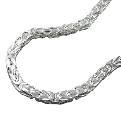NECKLACE, BYZANTINE CHAIN, 4MM, SILVER 925, 60CM