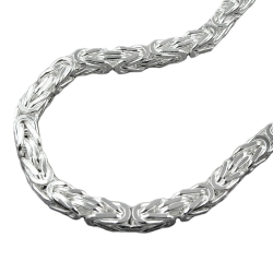 NECKLACE, BYZANTINE CHAIN, SILVER 925, 55CM