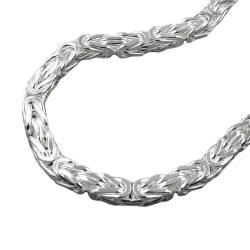 Necklace, Byzantine Chain 6x6mm Silver 925 80cm