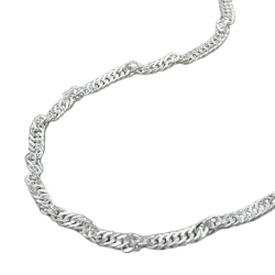 Singapore Chain, Diamond Cut, Silver 925, 40CM