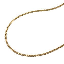 Necklace, Thin Curb Chain, Gold Plated