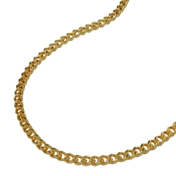 Necklace, curb chain, gold plated, 55cm