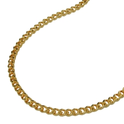 Necklace, curb chain, gold plated, 60cm