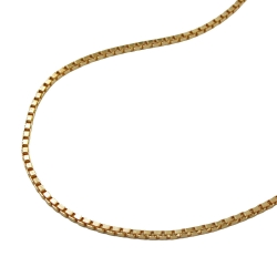 Venetian Box Chain, Diamond Cut, Gold Plated