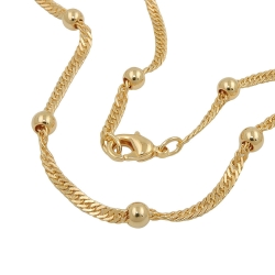 bracelet singapore chain gold plated