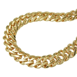fantasy chain, 55cm, gold plated