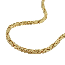 byzantine chain, 3mm, gold plated