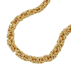 byzantine chain, 55cm, gold plated