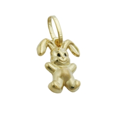 PENDANT, SMALL RABBIT, 9K GOLD