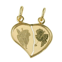 friendship pendants, angels, 14K GOLD