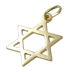 PENDANT, STAR OF DAVID, 14KT GOLD