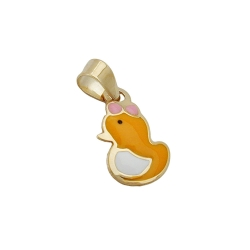 Pendant, Duck, 9K Gold