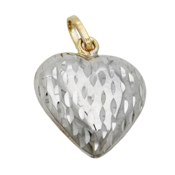 PENDANT, HEART, 9K GOLD