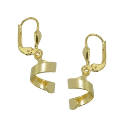 earring, short spiral, 8K GOLD